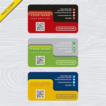 Collezione di biglietti da visita multicolore