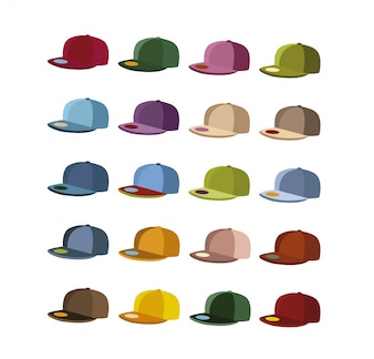 Multicolor cap collection