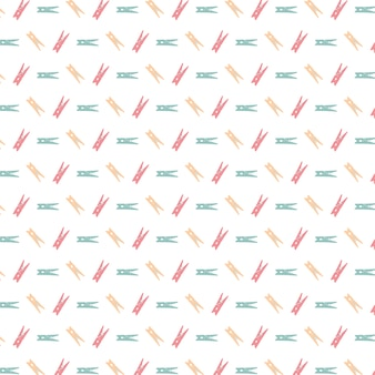 Multicolor clothes peg pattern background