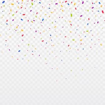Multicolor confetti burst background