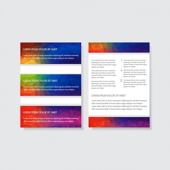 Multicolor volantino corporativa