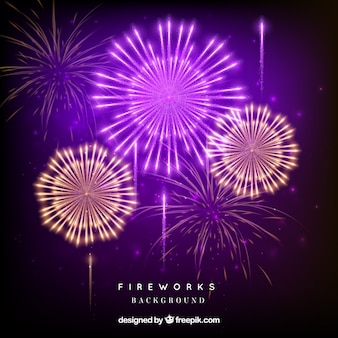 Multicolor fireworks background