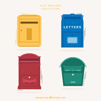 Multicolor flat mailbox collection