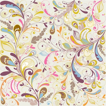 Multicolor floral background