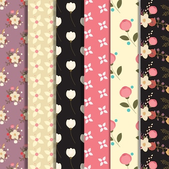 Multicolor floral pattern background collection