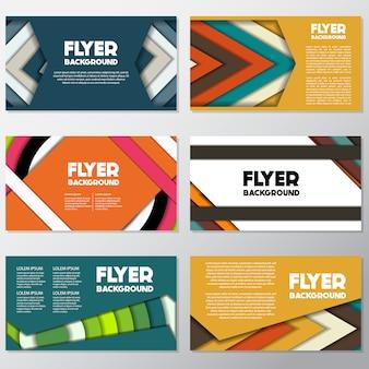 Multicolor flyer design
