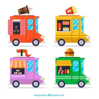Multicolor food truck