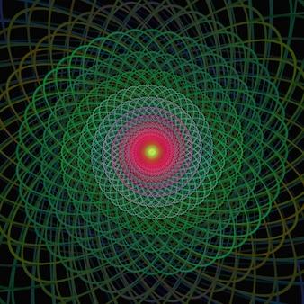 Multicolor fractal background