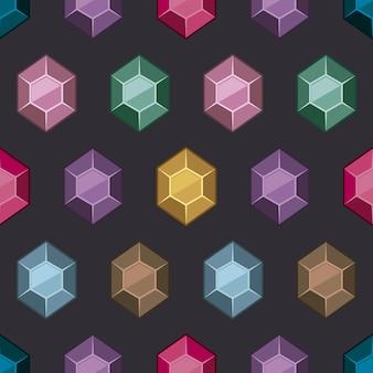 多色の宝石のパターンの背景