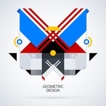 Multicolor geometric background design