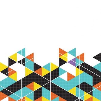 Multicolor geometric background
