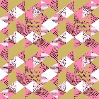 Multicolor geometric triangle with pastel color patten