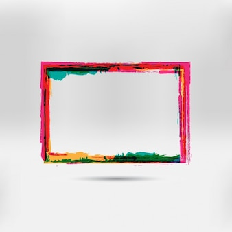 Multicolor hand painted frame