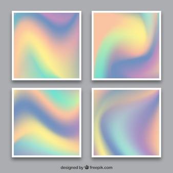 多色ホログラフィックカード