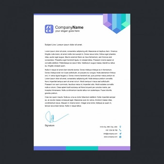 Multicolor letterhead template