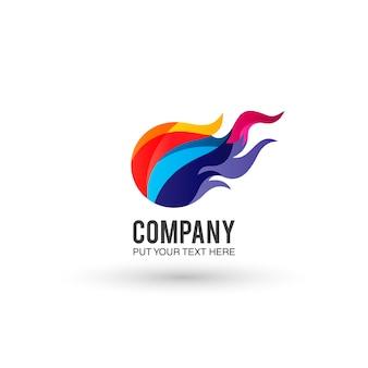Multicolor logo background