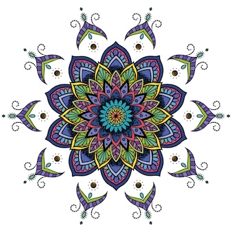 Multicolor mandala design