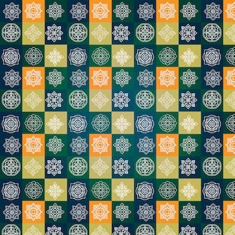Multicolor sfondo del modello di mandala