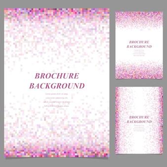 Multicolore sfondo del mosaico brochure