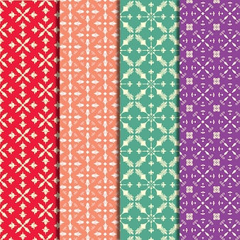 Multicolor pattern background collection