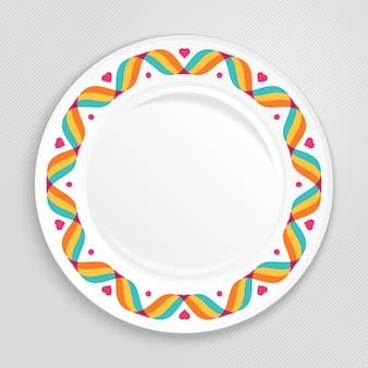 Multicolor plate design