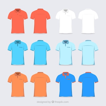 Multicolor polo shirt collection