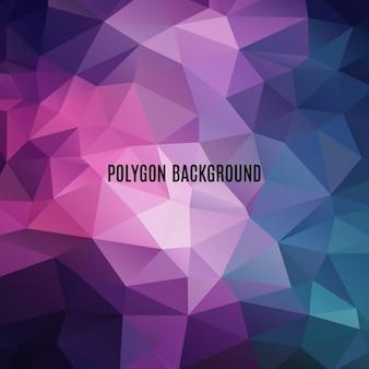 Multicolor polygonal background design