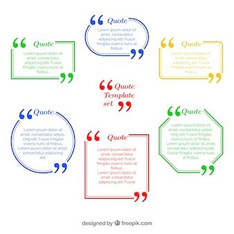 Multicolor quote template