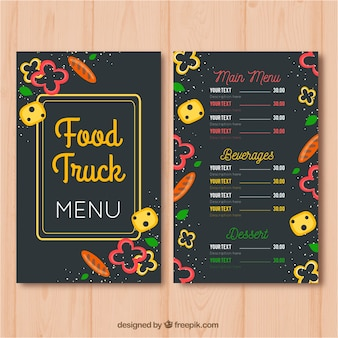 Multicolor restaurant menu