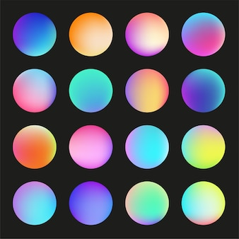 Multicolor round buttons isolated