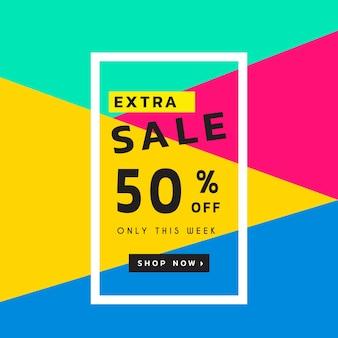 Multicolor sales background
