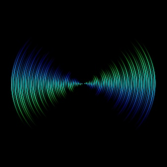 Multicolor sound wave from equalizer background