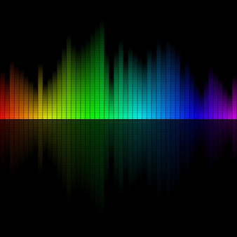 Multicolor sound wave from equalizer