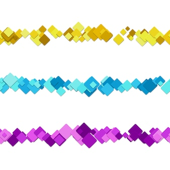 Multicolor square text dividers