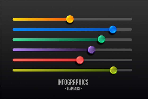 Multicolor steps slider concept infograph