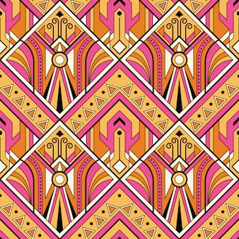 Multicolor tribal  seamless pattern
