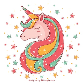 Multicolor unicorn background