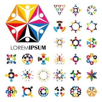 Дизайн логотипа multicolor
