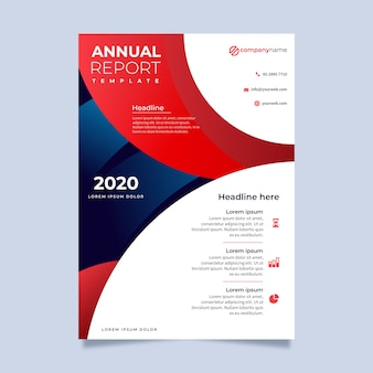 Multicolored abstract annual report