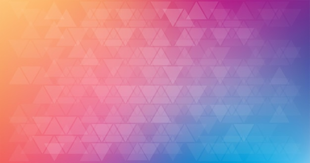 Multicolored abstract colorful decorative geometric pattern of translucent triangles