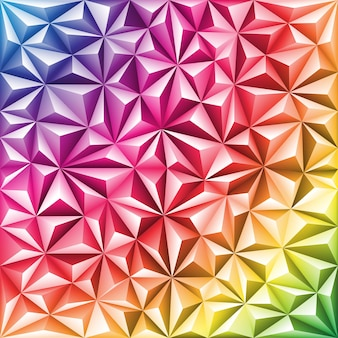 Multicolored abstract triangle mosaic pattern, vector background for design