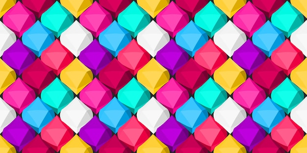 Multicolored background of geometric objects