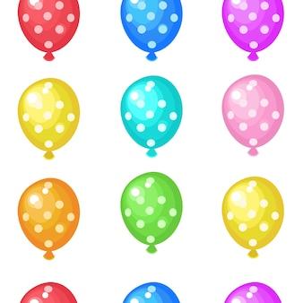 Разноцветные воздушные шары. бесшовные модели.