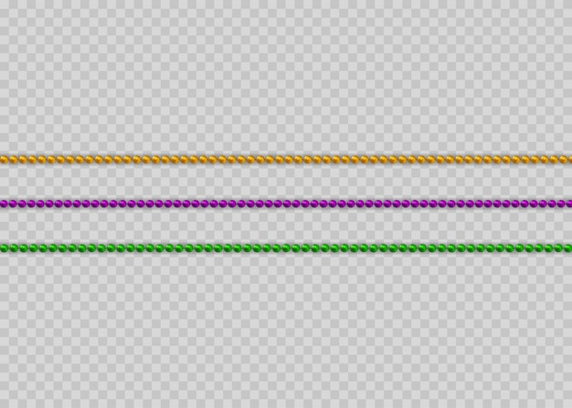 Multicolored beads on a white background. beautiful chain of different colors.