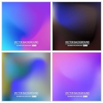 Multicolored blurred background set.