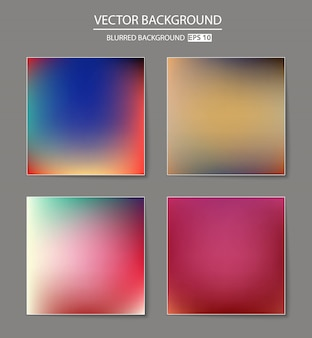 Multicolored blurred background set.