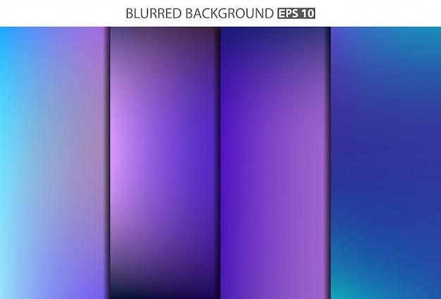 Multicolored blurred banner set