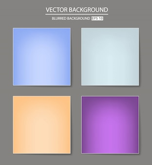 Multicolored blurred set