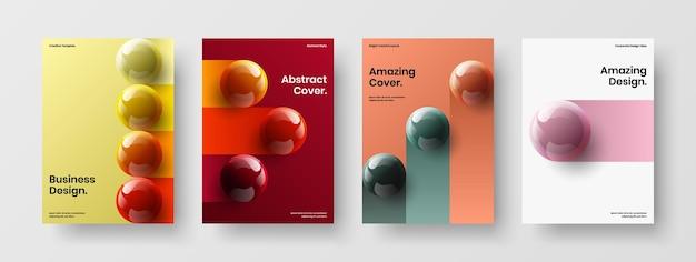 Разноцветные книжные обложки дизайн векторной коллекции макетов