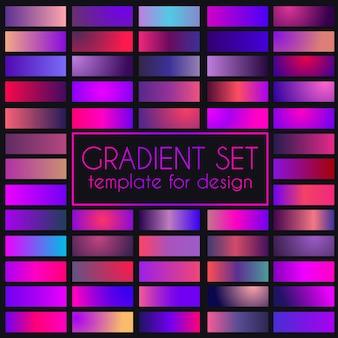 Multicolored bright gradient set.